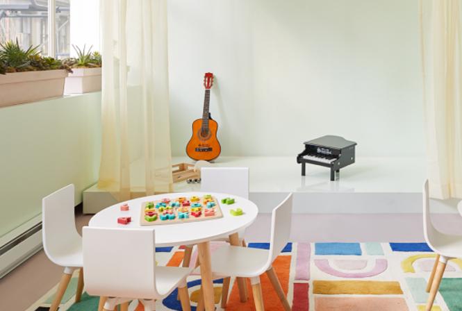 tipo diseño coworking con niños